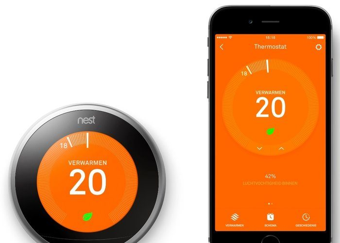 Nest thermostaat en rookmelder