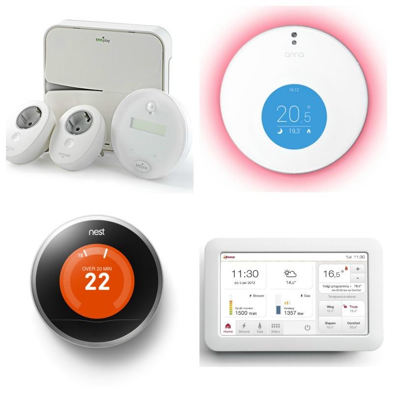 Slimme thermostaten Toon, Anna, Nest en EnergieAssistent