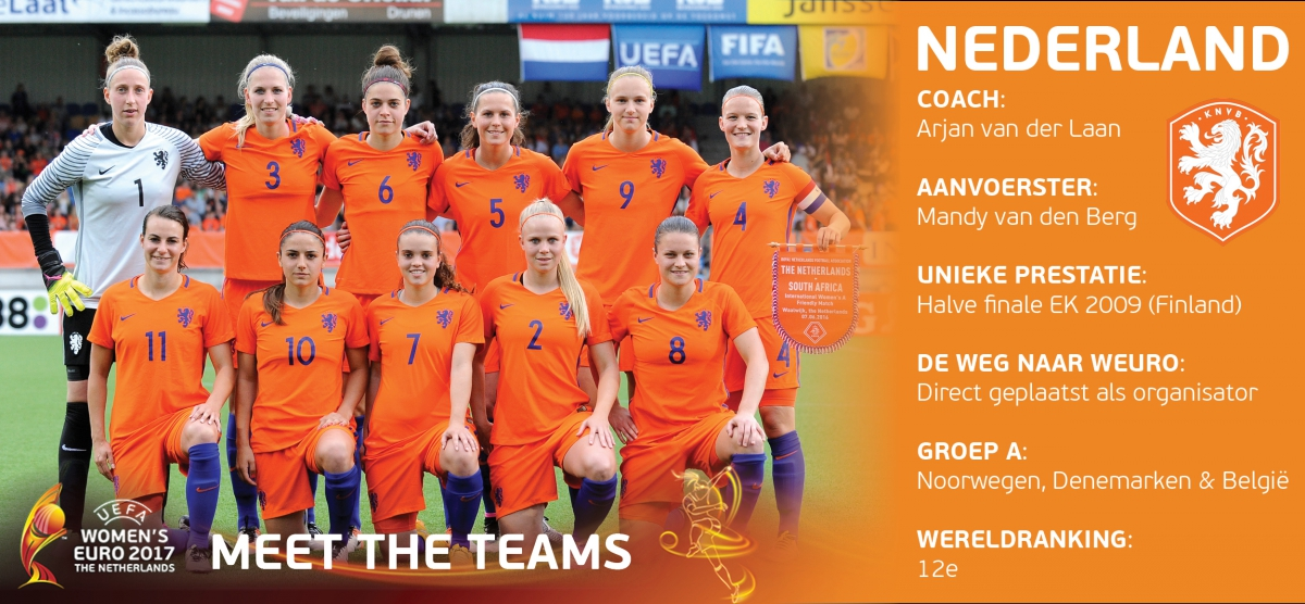 meet the teams nederland ek voetbal 2017